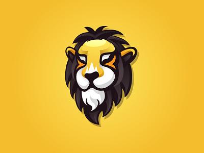 Lion Logo Inspiration branding animal lion head illustration lion logo inspiration lion yellow