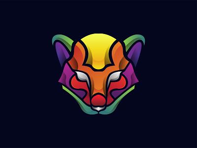 Color Cat Logo modern logo design branding illustration cat illustration inspiration inspire abstract colorful pet cat animal