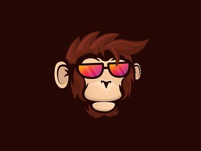 Cool Monkey Logo monkey logo ape monkey inspiration abstract logo design branding animal illustration