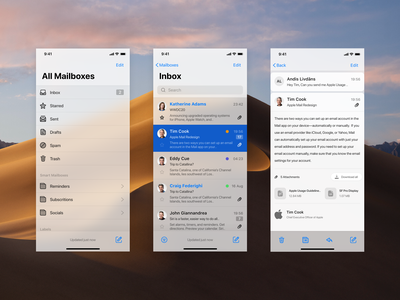 Apple Mail Mobile Concept mobile ux ui product design messaging mail ios interface icon design apple app adobe xd
