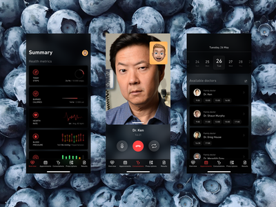 eHealth Mobile Concept apple ux ui product design ios interface illustration icon healthcareapp healthapp health design app adobe xd