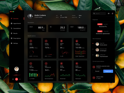 eHealth Concept health healthcare app health app illustration ux ui product design macos interface icon design app adobe xd