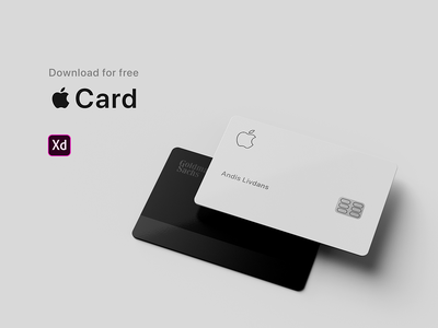 Apple Card for Adobe Xd. Download for free apple card freebie download card apple adobe xd