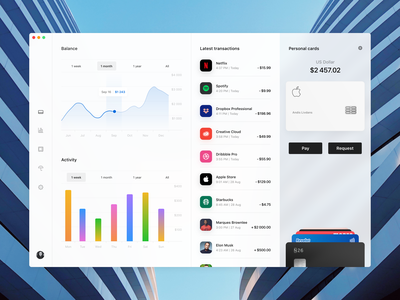 Wallet app Concept banking app bank fintech finance user experience user interface apple card ux ui product design interface icon design apple app adobe xd
