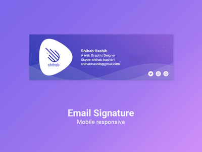 Email Signature Design css html photoshop card logo design email signature signature email