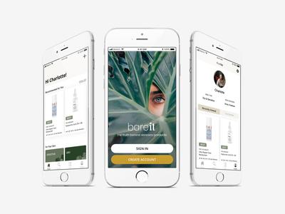 Bare It - Skin Care App Design