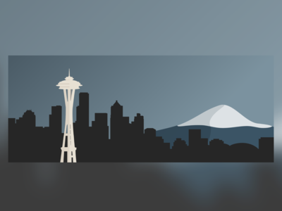 Seattle Skyline Illustration