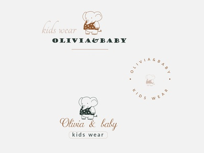 Kids apparel logo design