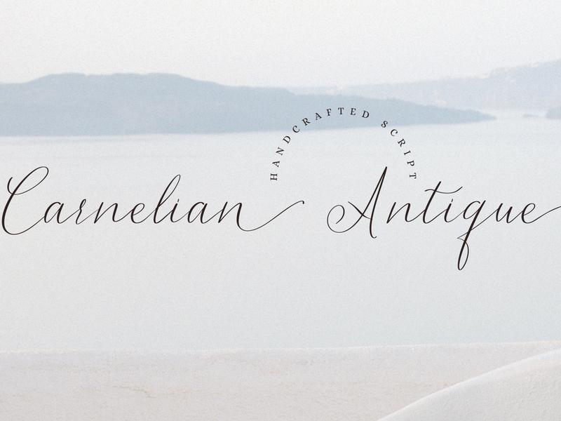 Carnelian Antique - Script