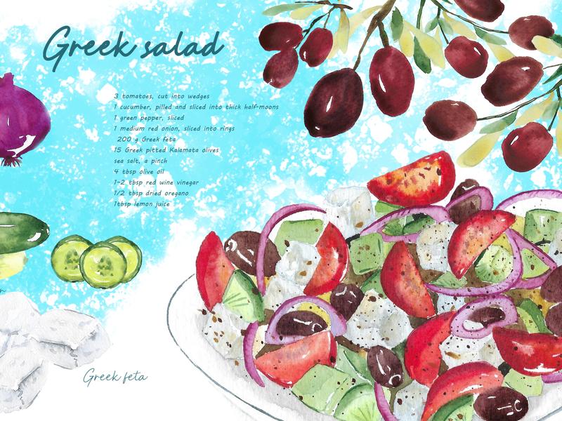 Greek salad illustration