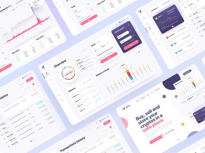 Valleo - Cryptocurrency Dashboard web uiux ux ui stock product design shades product minimalist gradients finance exchange design dashboard cryptocurrency crypto clean bitcoin application app