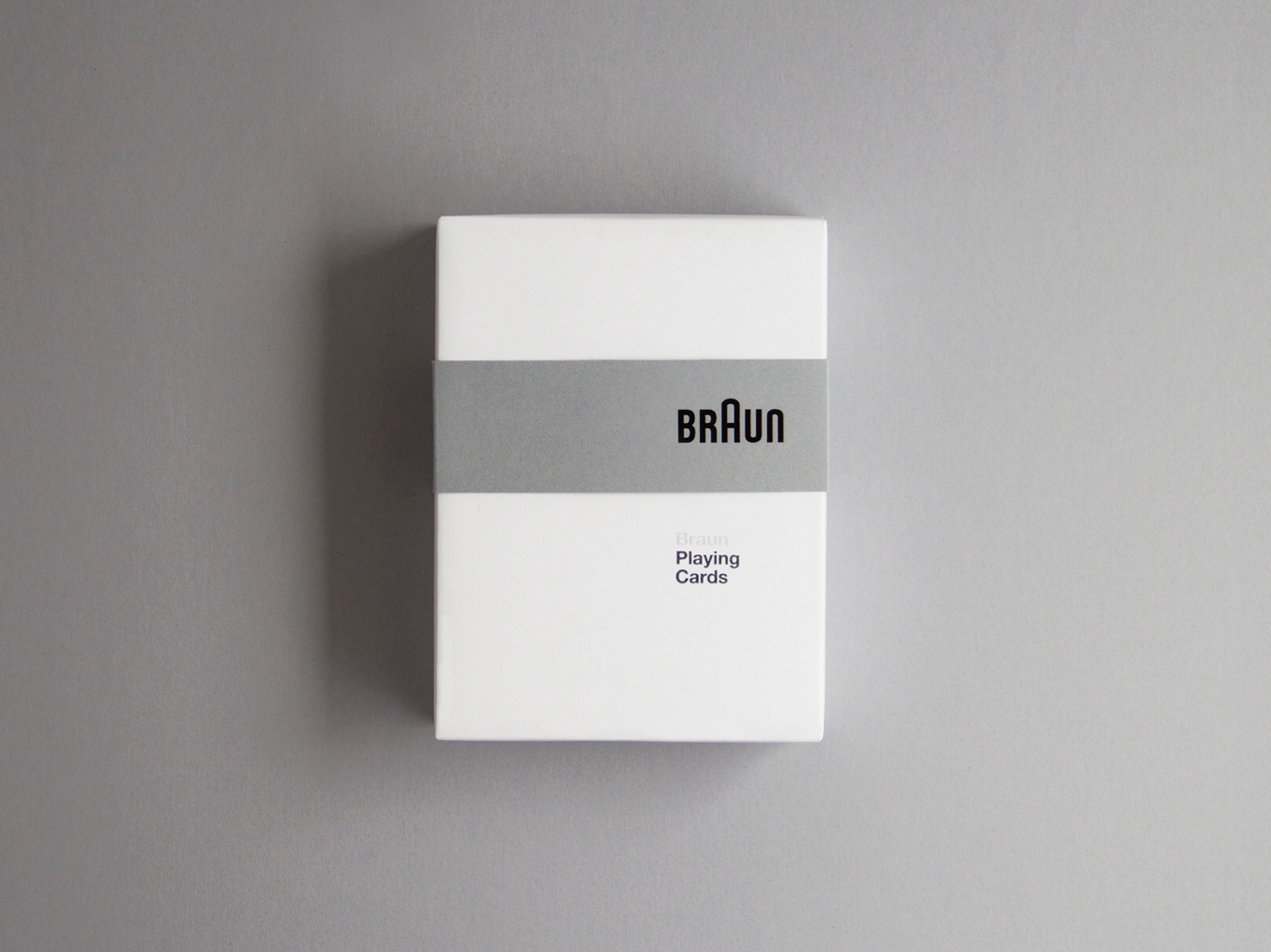 braun playing cards modernism dieter rams package cards game packaging braun black silkscreen material stationary product design product brand black  white print typography type graphic  design design