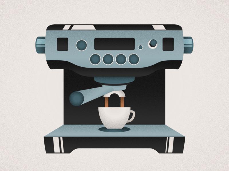 Espressso Machine design illustration clean adobe illustrator espresso republic energy morning vector illustration vector coffee espresso machine machine espresso