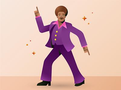 Groovy Dude man disco groovy illustration adobe illustrator illustrator design emojis vector illustration vector