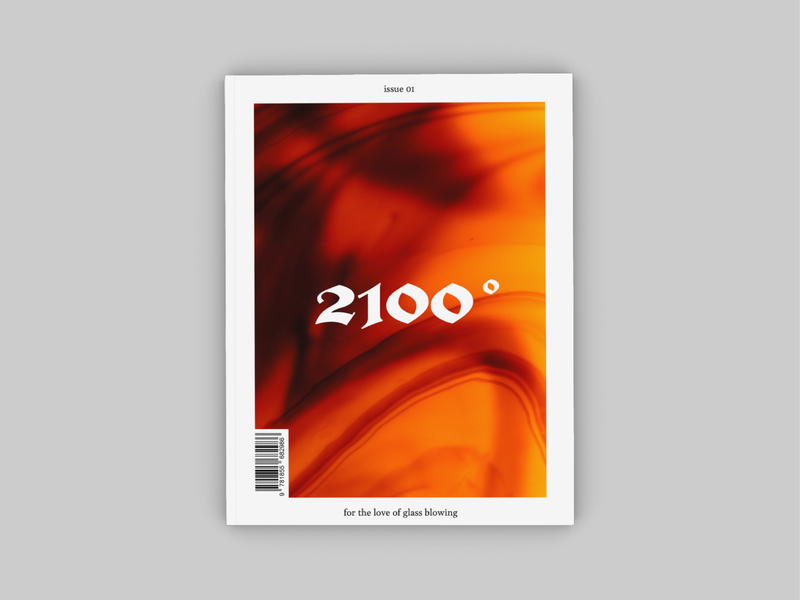 2100° Quarterly fire magazine cover cover black letter typography layout grid print annual quarterly publication 2100 indesign glass blowing
