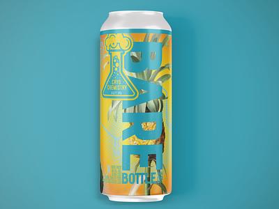 Cryo Chemistry gradient vibrant package label tropical pineapple beer vector logo beer art illustration package design photoshop craft beer branding design