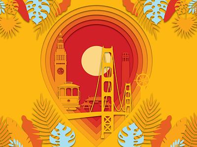 Local Paradise lush orange can tiki tropical vector beer art illustration package design craft beer photoshop design beer branding logo graphic design