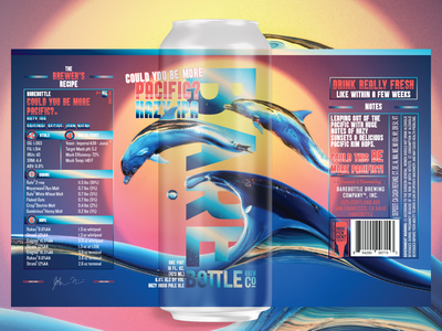 Could you be more Pacific? - Craft Beer Label illustration beer art package design craft beer photoshop aesthetic 80s vintage nostalgia retro fonts logo branding graphic design