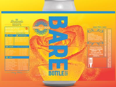 Vibrant Craft Beer Label - Amarillo Dust IPA