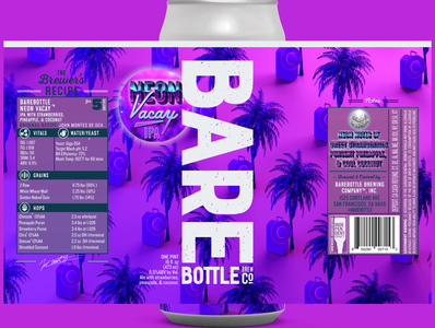 Neon Vacay IPA - Craft Beer Packaging Design