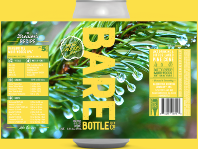 Muir Woods Inspired Craft Beer Label Design