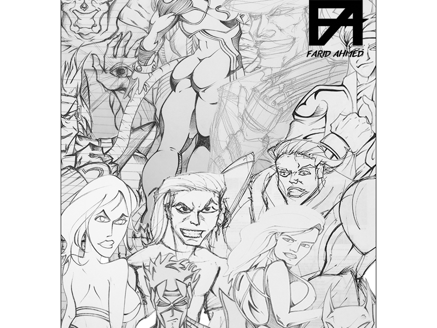 An introduction to my portfolio characters comic anime inking pencils drawing sketch art