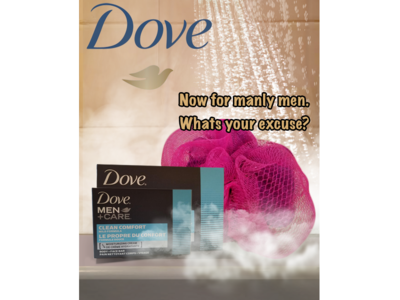 Mock ad for Dove products