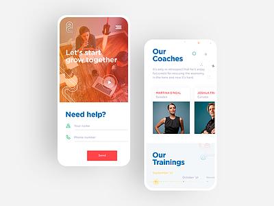 Anticoach LP mobile stylish mobile minimalistic page landing iphone entrepreneurship content coaching business burger app