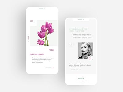 Floom mobile ux ui application app mobile store flowers floom