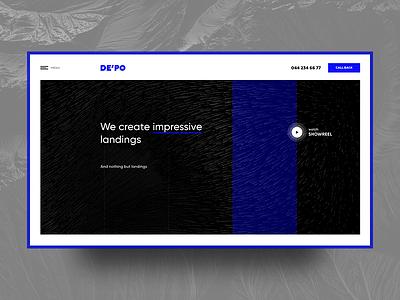 DE'PO Digital Studio motion design promo web website webdesign ui ux presentation showreel agency digital studio landing page