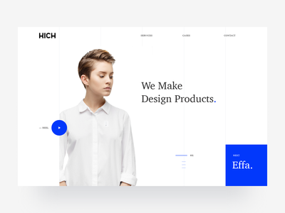 KICH model girl blue depo effa design studio whitespace clean shirt business industrial design