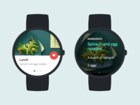 Food App for Wearables