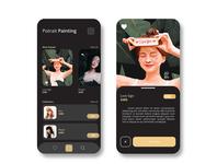 Digital market place UI design for artist ( Dark Version)