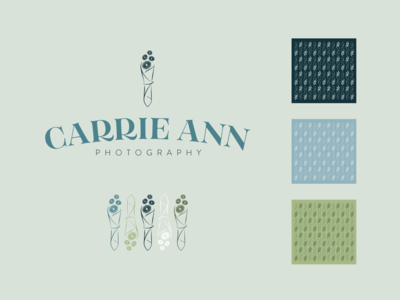 Branding for Carrie Ann Photography marketing identity design identity flower floral illustration vector illustrator florida adobe illustrator central florida branding typography graphic design