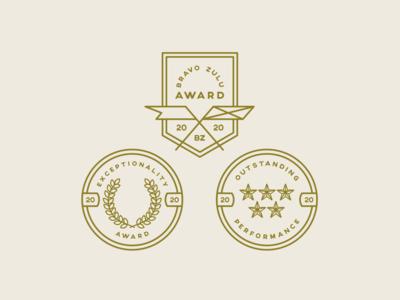 Award Badge Design 2020 college campus student award awards iconography badge logo badge design badge design icon logo vector illustrator florida central florida graphic design typography illustration