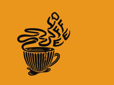 Coffee Mug Illustration digital illustration digital art apple pencil type illos linocut lines steam mug coffee graphic designer distressed procreate illustrator adobe illustrator florida central florida typography illustration graphic design