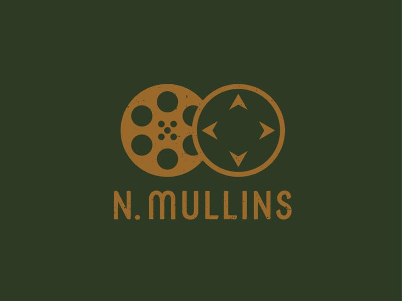 N. Mullins Logomark & Type (Version 2) branding and identity design graphic  design logo design videography video branding logomark logo distressed adobe illustrator illustrator graphic design typography