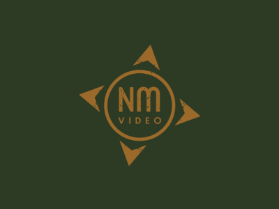 N. Mullins Video Monogram Icon identity branding typography monogram letter mark vector distressed video videography compass graphic design logo monogram logo monogram