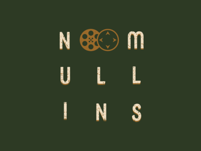 N. Mullins Logo and Name compass green gold adobe illustrator graphic design typography film reel videography branding and identity branding