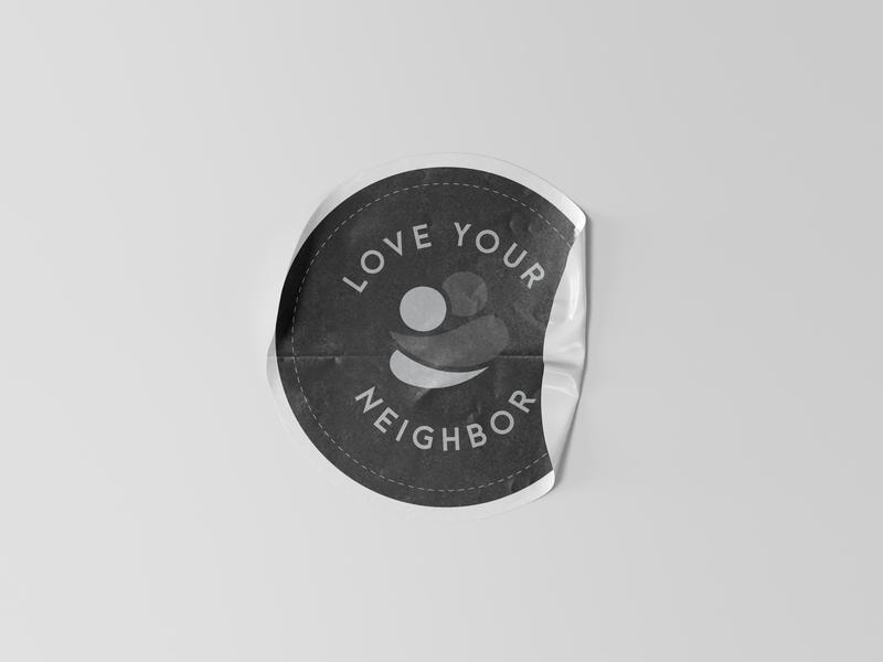 Love Your Neighbor Sticker mockup psd mockup icon logo typography graphic design blacklivesmatter blm etsy sticker graphic design bible design jesus christian bible love