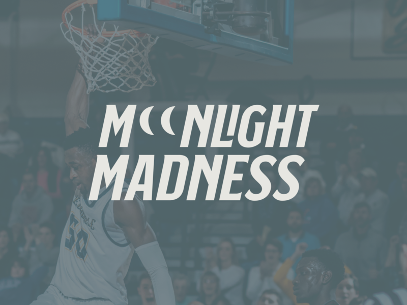 Moonlight Madness Logo for Cedarville University advertisement marketing mockup photo athlete college university logotype typography icon sports logo sports sport basketball logo march madness