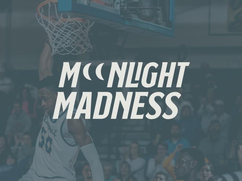 Moonlight Madness Logo for Cedarville University advertisement marketing mockup photo athlete college university logotype typography icon sports logo sports sport basketball logo march madness