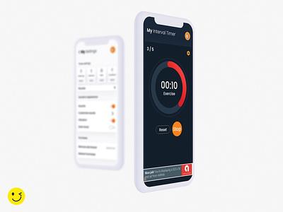 My Interval Timer xd ux ui minimal flat design app