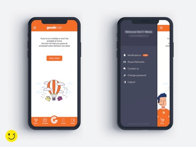 goodsmart animation illustration branding xd ux ui minimal flat design app