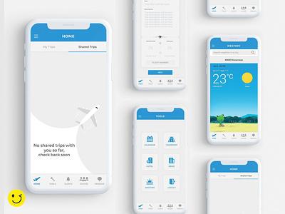 Travel Sense illustrator illustration branding xd ui minimal app ux flat design