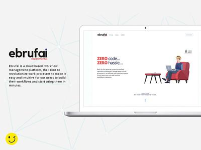 ebrufai website web illustration branding ui xd minimal ux flat design