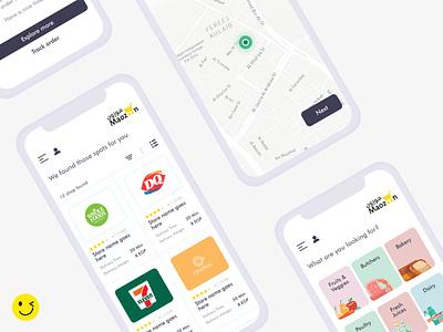 Maozoon mobile app uxdesign uidesign ui  ux art icon graphic design app design vector illustration branding app xd ui minimal ux flat design