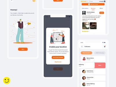 Review me compare review ios mobile app design mobile app mobile app design ui  ux vector graphic design xd app flat minimal ui ux design