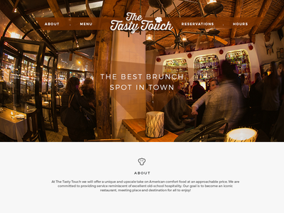 Restaurant Website design ui responsive branding website restaurant one-page layout