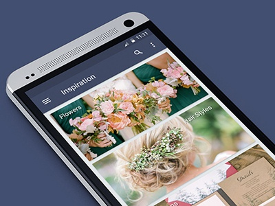 Wed planner app - Inspiration view app wedding ui ux android design material mobile